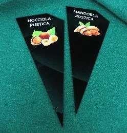 Triangular Gelato-Ice Cream Flavor display