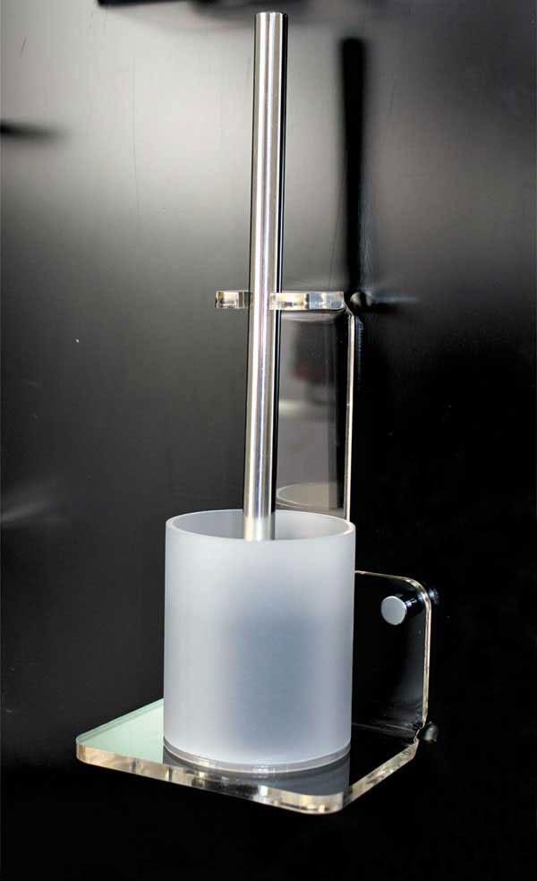 Plexiglas toilet brush holder