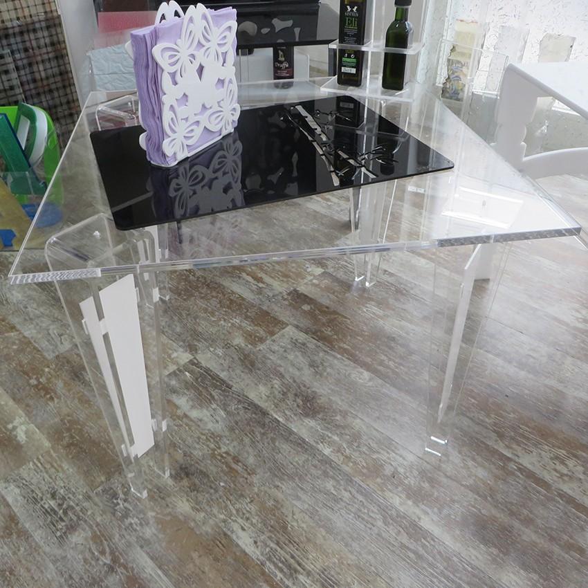 Tavolino Plexiglass quadrato