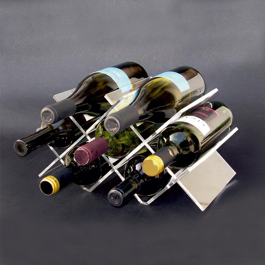W shaped Plexiglas wine bottles canteen