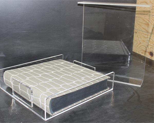 Porta album in Plexiglass trasparente