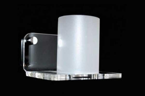 Porta spazzolini in plexiglass