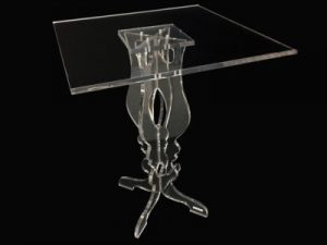 Baroque design plexiglas table