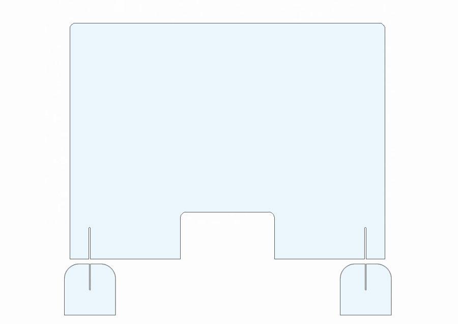 Pannello plexiglass light protezione anti coronavirus