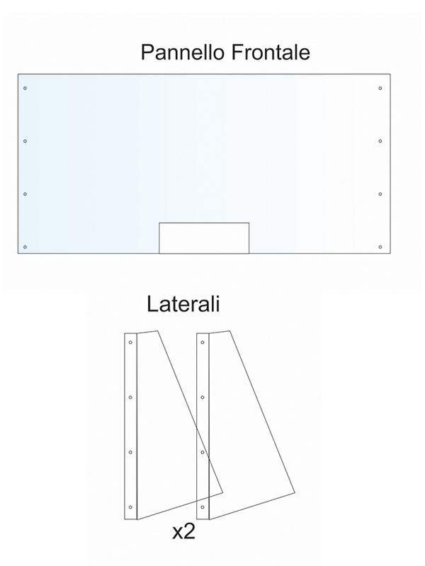 Divisori in plexiglass per ufficio