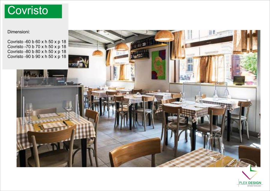 Divisori plexiglass ristoranti