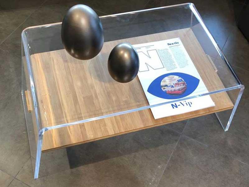 Tavolino Da Salotto In Plexiglass E Legno Plex Design