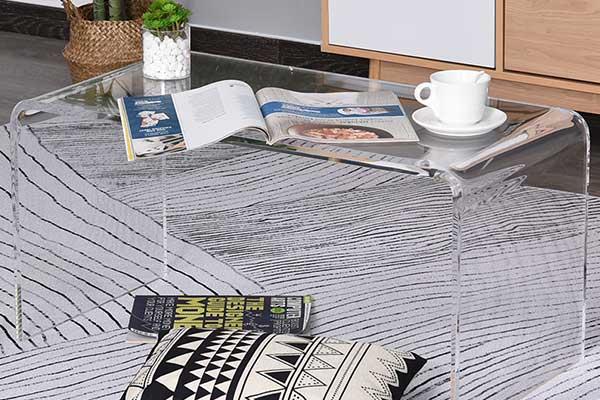 Tavolino da salotto cm 60x20 in plexiglass trasparente